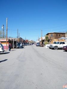 Looking down main street in Oatman AZ