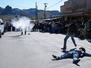 Wild West Gunman Show in Oatman AZ