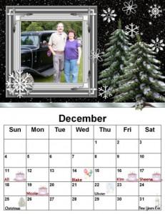 The Lucas Dec 2011 Photo Calendar Page